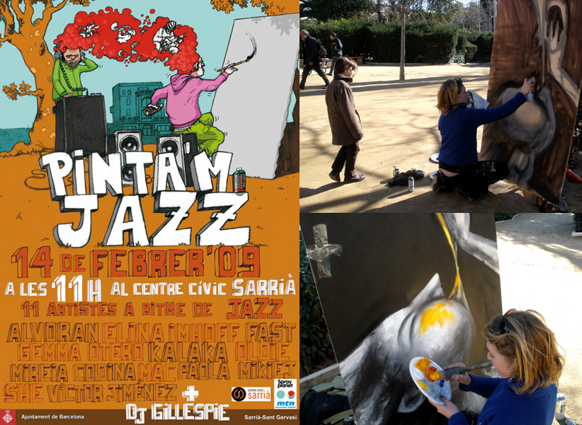Action Painting en festival de Jazz
