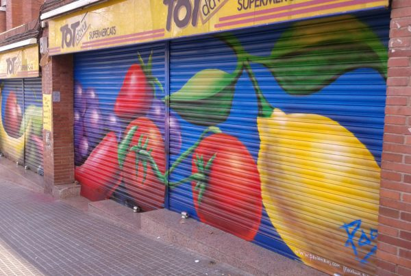 Graffiti para Persianas, supermercado