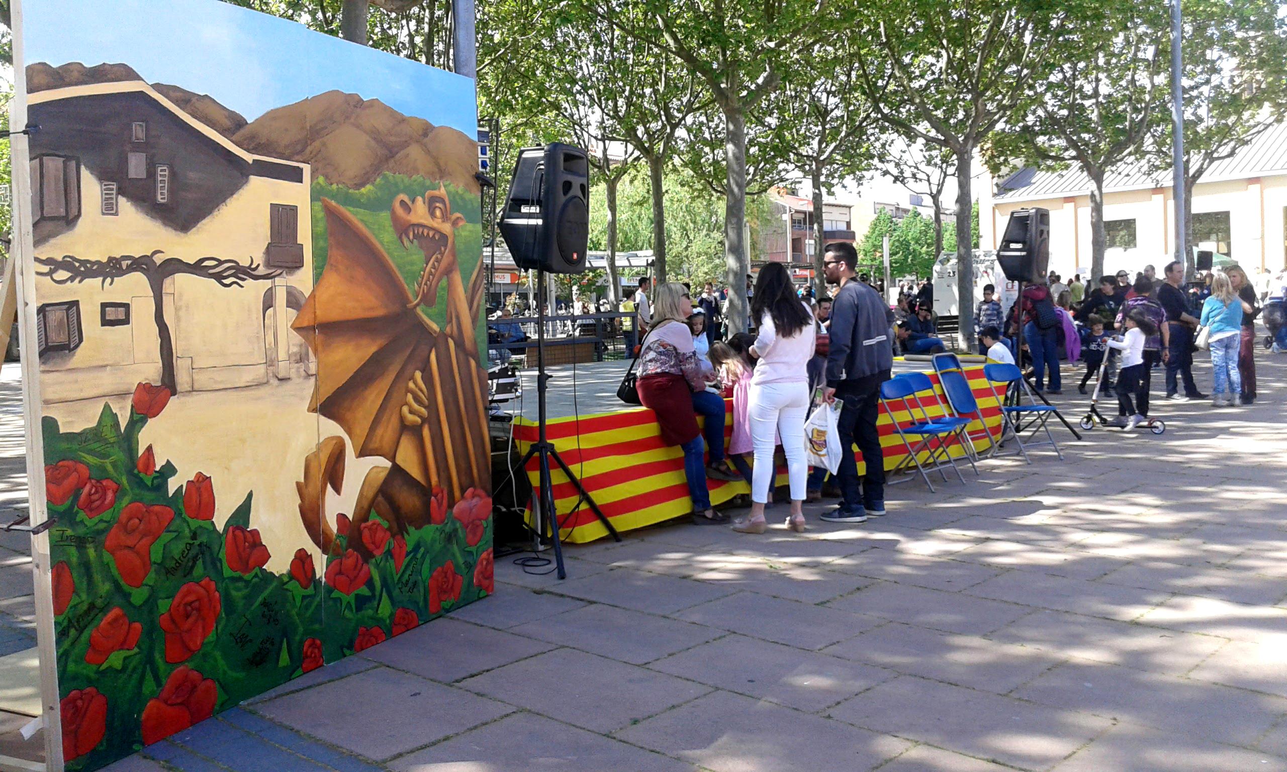 Photocall para Sant Jordi