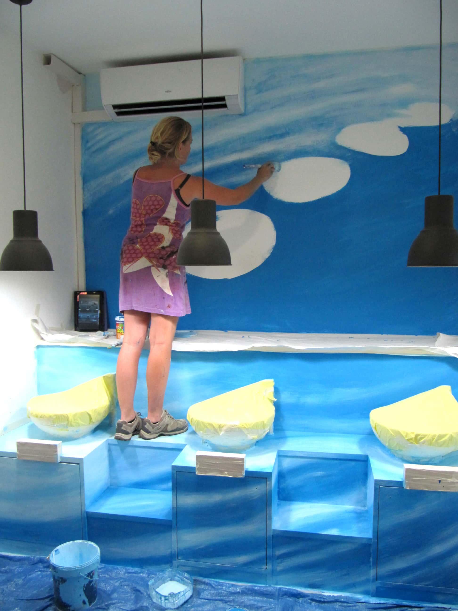 Pintura Mural para Salón de Estética