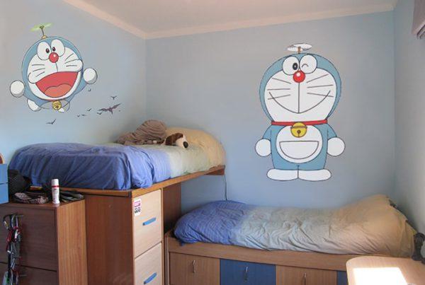 Pintura Mural Decorativa Doraemon