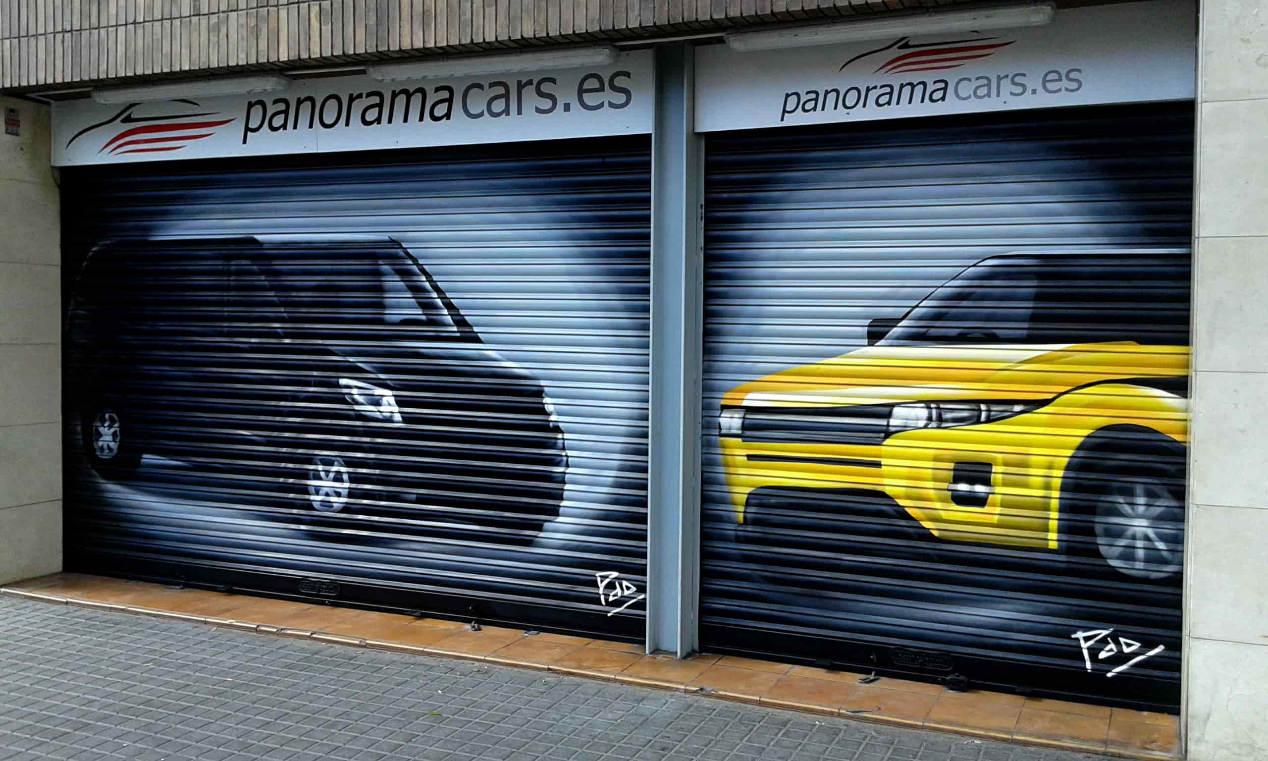 Graffitis en Persianas de Coches