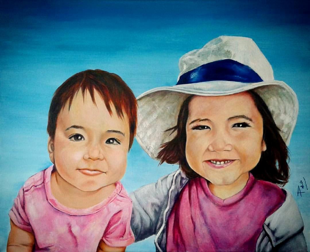 Retrato de niñas