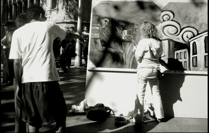 Action Painting en Festival: Tornem a Saltar les Muralles