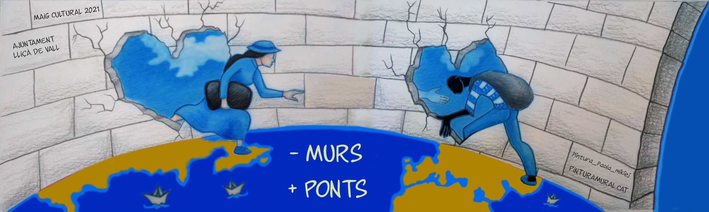 Boceto para el Taller de Pintura Mural: Inmigración, Lliçà de Vall